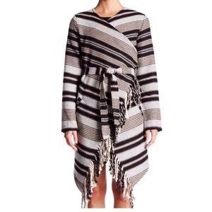 BB Dakota Sparrow fringe blanket cardigan/coat, M